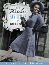 Fleisher's #67 c.1941 VIntage Knitting Stylish Fashion Patterns for Women