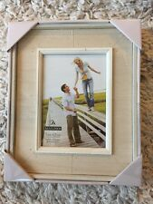 Malden Distressed Wood Picture Frame 8 by 10-Inch Off-White 8x10