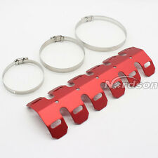 Universal Motorcycle Exhaust Muffler Pipe Leg Protector Heat Shield Cover Red