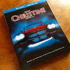 Christine (Blu-ray Disc, 2015) Includes Slipcover Stephen King Horror MINT