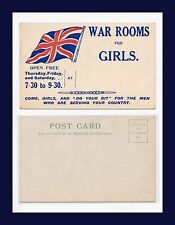 "UK WAR ROOMS FOR GIRLS ""DO YOUR BIT"" FOR THE MEN WHO ARE SERVING CIRCA 1915"