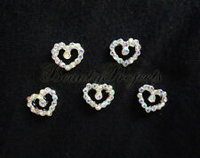 (5pcs) nail art crystal 3D heart charm rhinestone charms acrylic nails gel A189