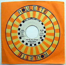 RICHIE BRUCE 45 You're My World / Cry I Will Tonight VG++ Psych PROMO e4436