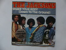 THE JACKSONS Shake your body EPC 7124 Avec sticker JUKE BOX