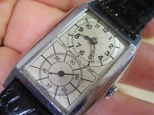RARE & COLLECT 1930'S SWISS DUAL DIAL DOCTOR WATCH MANUAL MEN'S WATCH      #5971