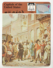 CAPITALS OF THE USA George Washington in Philadelphia 1979 STORY OF AMERICA CARD