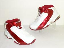 Shaq Dunk Man White Leather Red Stripe Cushion Ankle Basketball Sneakers 6.5M 8W