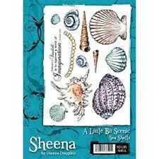 Un peu scenic sea shells rubber stamp sheet par sheena douglass