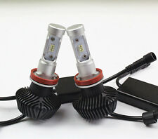 Pair 160W 16000LM LED Headlight Bulbs Philips H8 H9 H11 Light White 6000K