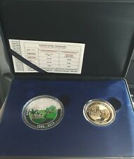 Malaysia 50th Anniversary FELCRA Colour Silver Proof Coin set of 2 No.0851