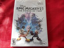 EPIC MICKEY 2:  THE POWER OF TWO NINTENDO Wii  FACTORY SEALED!!!  FREE SHIP!!!!!