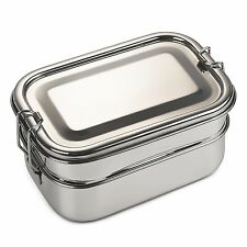 Bare Ware Three Layer Stainless Steel Lunch Box Set - Eco Friendly Food Conta...