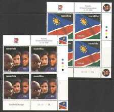 Namibia 2000 10th Independence/Flag/Child 2v ctl n20148