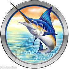 Marlin Round Decal for Mako, Boston Whaler, Pro Line, Robalo & Center Console