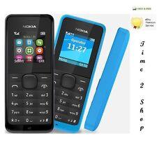 Nuevo Nokia 105-NEGRO SIM DUAL (Libre) Polvo Gratis Teléfono Móvil Barato Básico