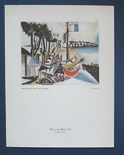 PABLO PICASSO • BOATS ON THE BEACH • N.Y. Graphic Society - Mint vintage Print