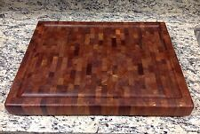 Mesquite Butcher Block NEW End Grain 16 X 20 With Juice Groove