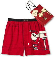 Mens PEANUTS Boxers Boxer Shorts New LARGE L 36-38 SNOOPY Charlie Valentine Love