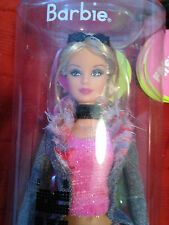 Fashion Fever Barbie Blonde Doll With Tweed Coat, Plaid Pants NRFB 2005