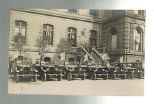 Mint WW 1 Paris France Cars in front of Building real picture Postcard RPPC