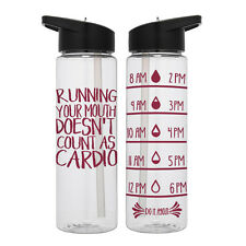 Water Tracker – Running Your Mouth - Sports Water Bottle 24 Oz