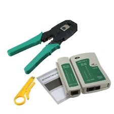 NEW RJ45 RJ11 RJ12 CAT5 CAT5e Portable LAN Network Tool Kit Utp Cable Test