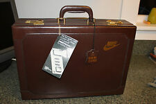 Vintage And Extremely Rare 80's Nike Leather Briefcase - Phil Knight - NWT