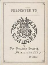 § Ex-libris (Bookplate) THE HARLEIAN SOCIETY §