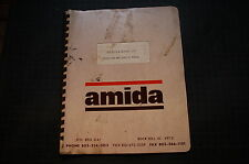 AMIDA DLB DETOUR LITE Operation Owner Operator Maintenance Manual tower bar book