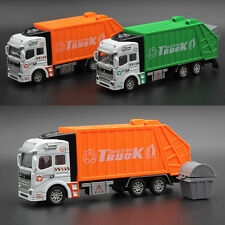 1:32 Back of the Car Model Garbage Truck Sanitation Force Toy Alloy Kids Gift