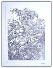 Affiche BD AOUAMRI Poster Quête de l'oiseau du temps EA 100ex Signé 40x52 cm