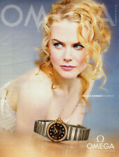 2007 Magazine Advertisement for Omega Watches with Nicole Kidman  032014