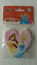 Pack 10 x Disney Princess Pink Heart Shaped Gift Tags, Girls Birthday Christmas