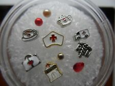 RN Medical Nurse on the Go Floating Charms MIX fit Living Memory Owl Locket 11p