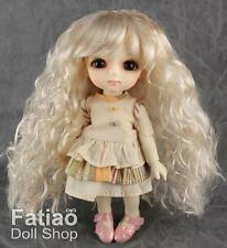 "Dollfie Lati Yellow Pukifee 5-6"" Curls Doll Wig Blonde"