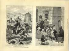 1885 Performing Goat And Monkeys At Cairo, Turkomad Raid Carrying Off Women