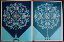 Obey A Delicate Balance 1 & 2 set print by Shepard Fairey Signed & Numbered