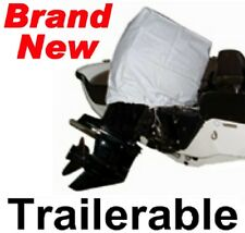 NEW VINYL OUTBOARD BOAT MOTOR/ENGINE HOOD COVER,2-STROKE 115-125 HP,TRAILERABLE