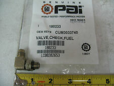 Cummins N14 90 Degree Angle Elbow Fuel Check Valve PAI P/N 180233 Ref. # 3033740