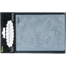 Darice Embossing Folder 3 THREE SNOWMEN & Snowflakes Card Making A2 1215-57