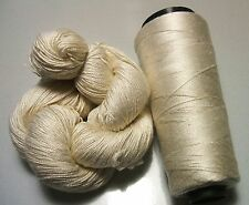 100% Pure Mulberry Queen Lace Silk Yarn 50 gram 3 Ply Pearl White Lot L