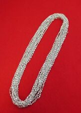 WHOLESALE LOT OF 5 14kt WHITE GOLD PLATED 16 INCH 2mm TWISTED NUGGET CHAINS