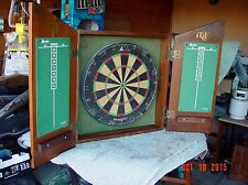 VINTAGE ABERCROMBIE & FITCH DARTBOARD AND CABINET