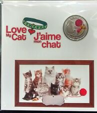2017 Love My Cat 25-Cent Canada Coin: Gift Set.