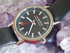 Mondaine Ecomatic Swiss Railway Wrist Watch, Recycled Metal Case, Near Mint
