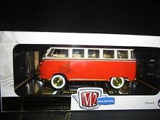 M2 Volkswagen Bus Deluxe 1960 Red and White 1/24 Limited Edition CHASE 300 Units