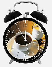 """Cup of Coffee Alarm Desk Clock 3.75"""" Room Decor Y40 Nice for Gifts wake up"""