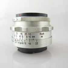 Für Exa 8 Blades Export Tessar 2.8/50 (Zeiss) Objektiv / lens