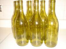 6 Green Wine Bottles 750ml Empty & Clean