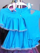 Juvenille Ballroom dance set, skirt and leotard, all sizes and colors